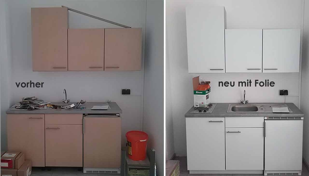 Küchenfront Neu Folieren: Streichen
